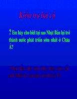 bài 8 TÌNH HÌNH PHÁT TRIỂN KINH -TẾ XÃ HỘI Ở CÁC NƯỚC CHÂU Á