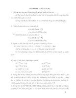 Bài tập Số học 6 nâng cao 1