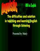 difficulties in teaching listening
