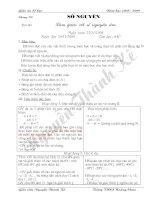 Giáo án Số học 6 (Chương II)