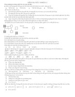 20 câu hỏi trắc nghiệm lớp 12 ban KHTN