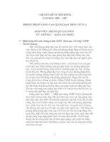 Chuyên đề tự bồi dưỡng: Nâng cao chất lượng giảng dạy cờ vua