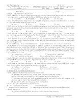ĐỀ KT LẦN II HK I - VẬT LÝ 12 TRƯỜNG LÊ QUÝ ĐÔN HÀ ĐÔNG