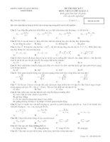 Đề kiểm tra học kỳ 1-  Lớp 10 Ban B