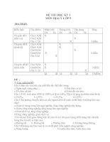 Đề thi học kì 1 và đáp án Môn Địa lý lớp 9 (mới) Đề số 8