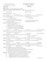 đề kiểm tra hóa 12 kimloại I,II,IIIA