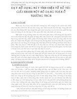 SANG KIEN KINH NGHIEM CAC DANG TOAN CASIO