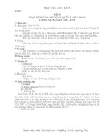 Giáo án lịch sử lớp 9 (Từ tiết 19-44)