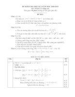 Đấp án và biểu điểm đề KT Học kỳ 1 - 12NC