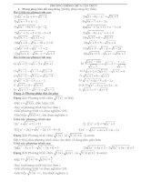 một số Phương pháp giải phương trình chứa căn thức