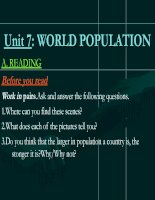unit 7: world population