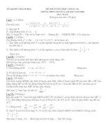 Đề thi HSG toán lớp 9 có đáp án đề 51