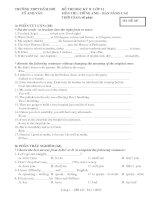 đề thi học kì II - tiếng anh 11 ban nâng cao