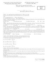 Đề thi Thử ĐH lần 2 THPT  Phan Châu Trinh