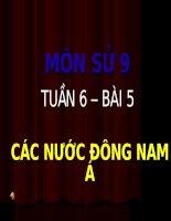 Bài 5 - Các nước Đông Nam Á
