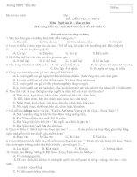 Đề kiểm tra Ngữ văn 15 phút - Cơ bản