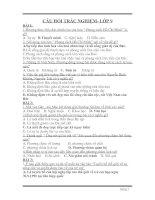 Trắc nghiệm Văn 9 năm 2008-2009 có đáp án