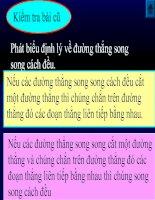 ĐƯỜNG THẲNG SONG SONG VỚI 1 ĐƯỜNG THẲNG CHO TRƯỚC