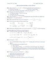 Bài tập tự luận Giải Tích 12 - chuơng 1