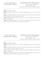 Đề thi CDGD  10 (HKI Tự luận)