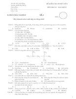 Đề kiểm tra 45 phút chương đại cương hóa hữu cơ và hidrocacbon no