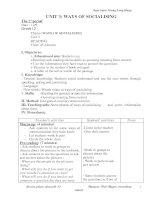 Giáo án Anh 12 CB Unit3, TestyourselfA (chuẩn)