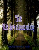 Bài 29 : Bảo vệ và khoanh nuôi rừng