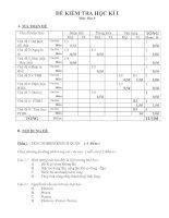 Noel 2008-Đề thi Hóa HK1 và đáp án lớp 9 (Đề 06)