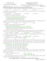 ĐỀ ĐÁP ÁN THI THỬ ĐH ĐỢT 1-50 CÂU