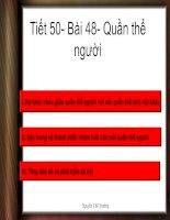 Bài 48: Quần thể người