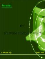 Phương trình vi phân cấp hai tuyến tính ( Cao Dang)
