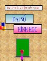 Trắc nghiệm toán 7 (HK II)