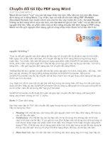 Chuyển đổi tài liệu PDF sang word