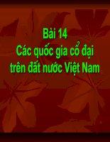 Bài 14: Các quốc gia cổ đại trên đất nước Việt Nam
