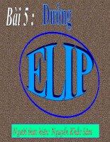 Chương III - Bài 3: Phương trình elip