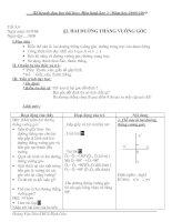 Hình : tiết 3&4- Bài 2: Hai đường thẳng vuông góc