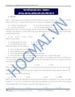 Đề thi, đáp án, hướng dẫn giải đề thi thử đại học