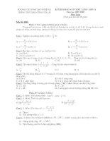 Kiểm tra Toán 11 (đề 003)