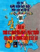 Bài 10: Thời kì hình thành và phát triển của Phong kiến Tây âu (Hội giảng)