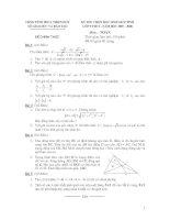 Đề thi hsg( có đáp án)