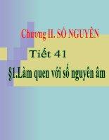 Chương II - Bài 1: Làm quen với số nguyên âm