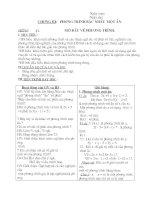 Giáo án Đại số 8 Chương 3