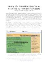 Hướng dẫn Trình khởi động Tối ưu hoá Công cụ Tìm kiếm của Google, Phiên bản 1.1, ngày 13 tháng 11 năm 2008, phiên bản mới nhất tại Trung tâm Quản trị Trang web của Google Hướng dẫn Trình khởi động Tối ưu hoá Công cụ Tìm kiếm của Google
