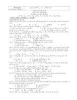 Đề thi & đáp án thi BKII lớp 10 Môn Hóa 3