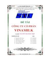 quản trị chất lượng của cong ty cổ phan vinamilk