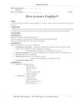 Giáo án tiếng Anh 9
