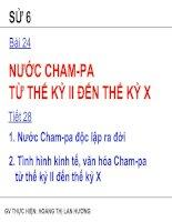 Bài 24: Nước Cham-pa từ thế kỷ II đến thế kỷ X