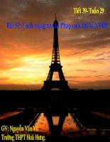 Bài 31: Cách mạng tư sản Pháp cuối thế kỉ XVIII (Tiết 1) (2)