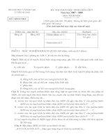 Đề thi HSG cấp tỉnh (07-08)