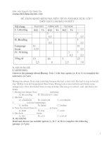 Đề kiểm tra anh 7 kỳ 2 (Đề tham khảo- 2008)